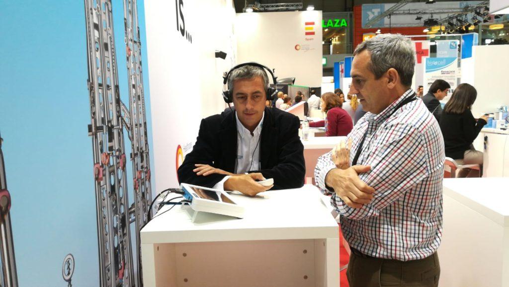 Test audiómetro digital Audixi 10 en la feria MEDICA 2018