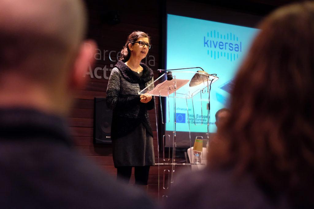 Piedad Díez, CFO de Kiversal, en la inauguración del UXLab de Barcelona Activa.
