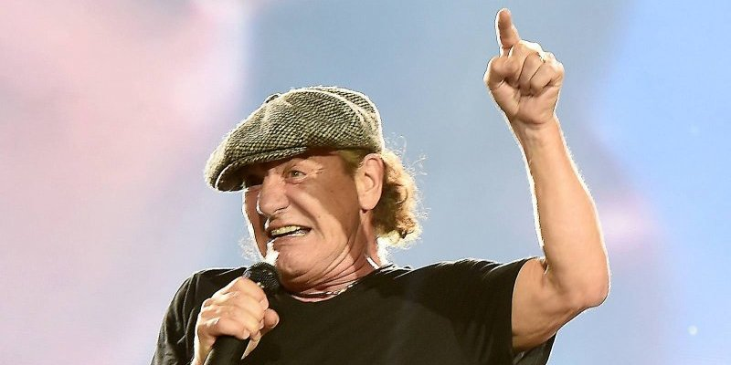The lead singer of AC/DC Brian Johnson